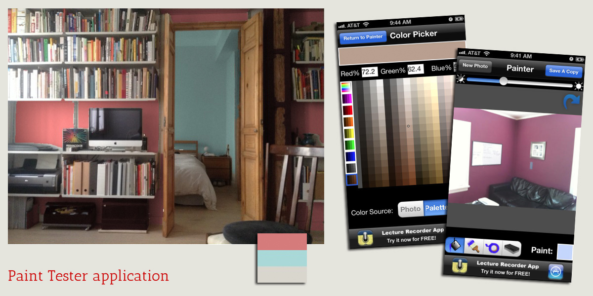 Madrid Architect Kersten Harries Testing Paint Color